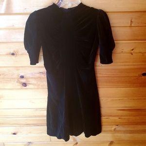 Vintage Unlabeled Black Velvet Dress